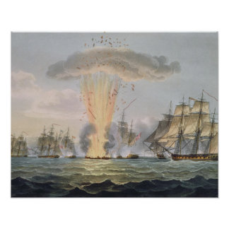 Capture and Destruction of Four Spanish Frigates, Poster