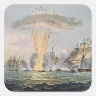 Capture and Destruction of Four Spanish Frigates, Square Sticker