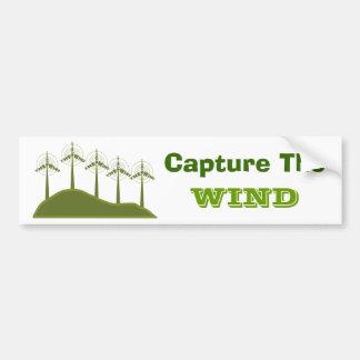 Capture el viento Bumpersticker Pegatina Para Auto