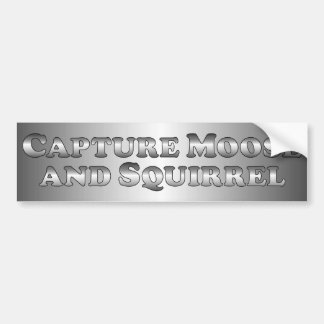 Capture Moose and Squirrel - Basic Car Bumper Sticker
