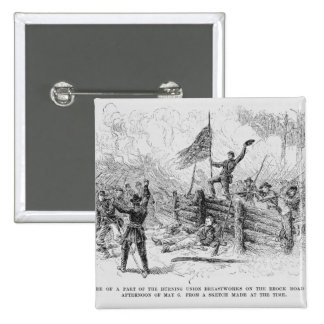 Capture of a part of the burning union 2 inch square button