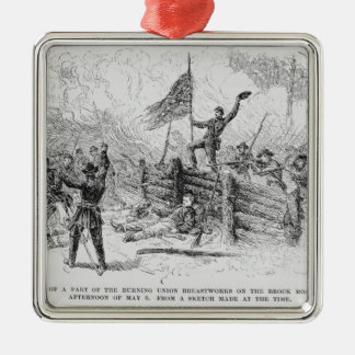 Capture of a part of the burning union metal ornament