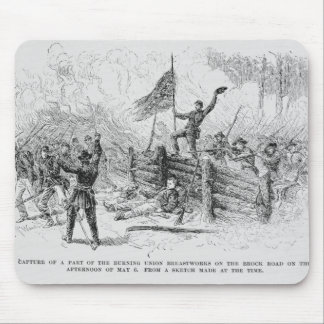 Capture of a part of the burning union mouse pad