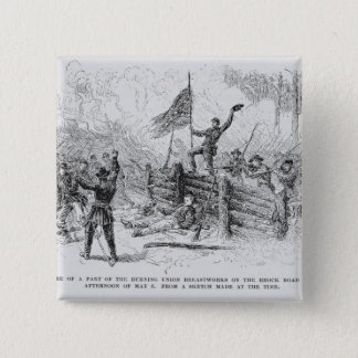 Capture of a part of the burning union pinback button