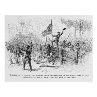 Capture of a part of the burning union postcard