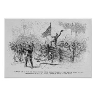 Capture of a part of the burning union poster