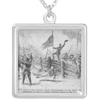 Capture of a part of the burning union silver plated necklace
