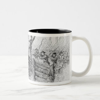 Capture of a part of the burning union Two-Tone coffee mug