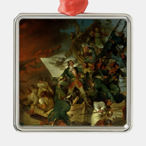 Capture of Azov, 18th May 1696 Square Metal Christmas Ornament