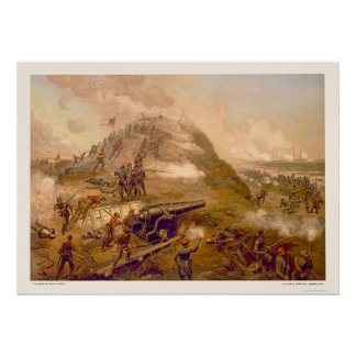Capture of Fort Fisher by L. Prang & Company 1887 Poster