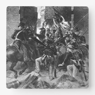Capture of Fort George. Col. Winfield Scott leadin Square Wall Clock