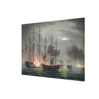 Capture of La Desiree, July 7th 1800, from 'The Na Gallery Wrapped Canvas