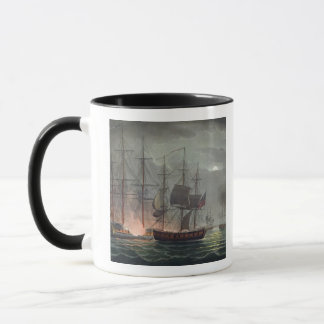 Capture of La Desiree, July 7th 1800, from 'The Na Mug