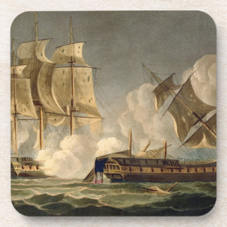 Capture of La Forte, February 28th 1799, engraved Drink Coaster