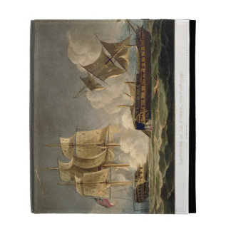 Capture of La Forte, February 28th 1799, engraved iPad Folio Cover