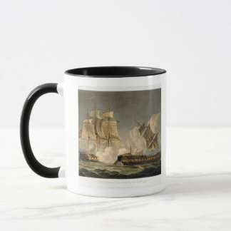 Capture of La Forte, February 28th 1799, engraved Mug