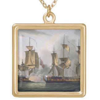 Capture of La Reunion, October 21st 1793, from 'Th Gold Plated Necklace