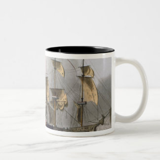 Capture of La Reunion, October 21st 1793, from 'Th Two-Tone Coffee Mug