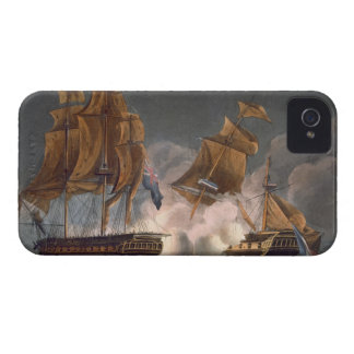 Capture of La Tribune, June 8th 1796, engraved by iPhone 4 Cover