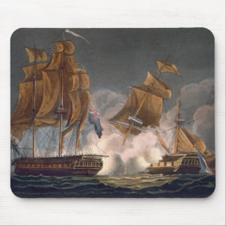 Capture of La Tribune, June 8th 1796, engraved by Mouse Pad