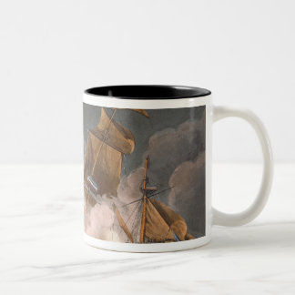 Capture of La Tribune, June 8th 1796, engraved by Two-Tone Coffee Mug