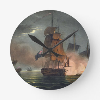 Capture of the Badere Zaffer, July 6th 1808, from Round Wallclock