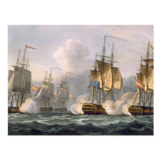 Capture of the Dorothea, July 15th 1798, engraved Postcard