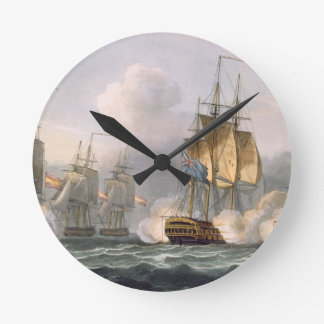 Capture of the Dorothea, July 15th 1798, engraved Round Clock
