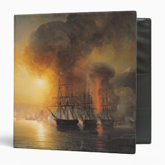 Capture of the Fort of Saint-Jean-d'Ulloa 3 Ring Binder