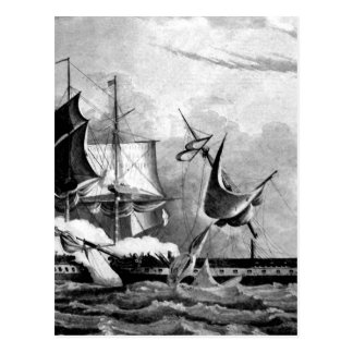 Capture of the Guerriere by the Constitution_War I Postcard
