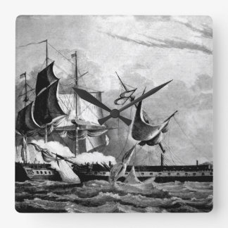 Capture of the Guerriere by the Constitution_War I Square Wall Clock