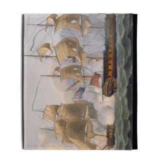 Capture of the Liguria, August 7th 1798, engraved iPad Folio Case