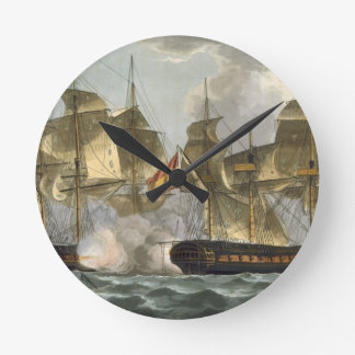 Capture of the Mahonesa, October 13th 1796, engrav Round Clock