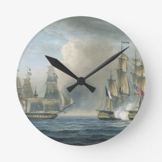 Capture of the Pomone by HMS Arethusa off Cuba in Clock