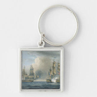 Capture of the Pomone by HMS Arethusa off Cuba in Keychain