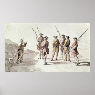 Capture of the Rebel, Simon Fraser, Lord Lovat Poster