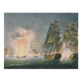 Capture of the Rivoli, 22nd February, 1812, engrav Postcard