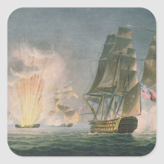 Capture of the Rivoli, 22nd February, 1812, engrav Square Sticker