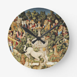 Capture of the Unicorn Round Wall Clock