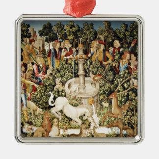 Capture of the Unicorn Metal Ornament