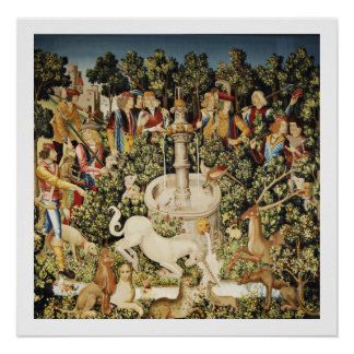 Capture of White Unicorn Poster