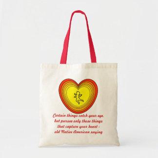 capture su bolso del corazón bolsas de mano