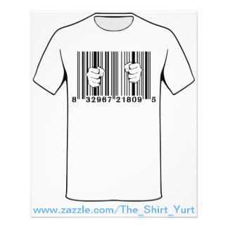 Captured By Consumerism UPC Barcode Prison Flyer