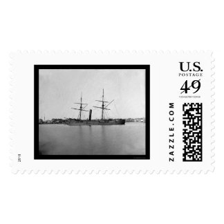 Captured Ironclad Ram at Anchor near Capitol 1865 Postage