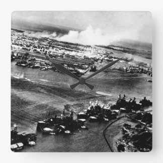 Captured Japanese photograph during_War Image Square Wall Clock