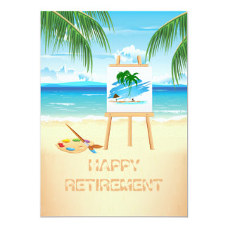 Captured on Canvas Retirement Party Invitation