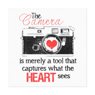 Capturing the Heart Canvas Print