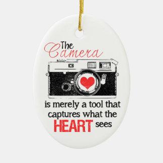 Capturing the Heart Ceramic Ornament