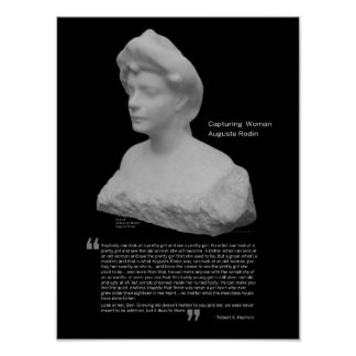 Capturing Woman by Auguste Rodin Poster