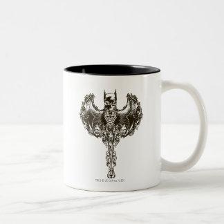 Capucha de Batman y escudo del cráneo Taza De Café